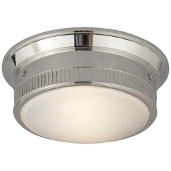 Visual Comfort TOB 4203PN Thomas O'Brien Calliope Marine Flush Mount in Polished Nickel