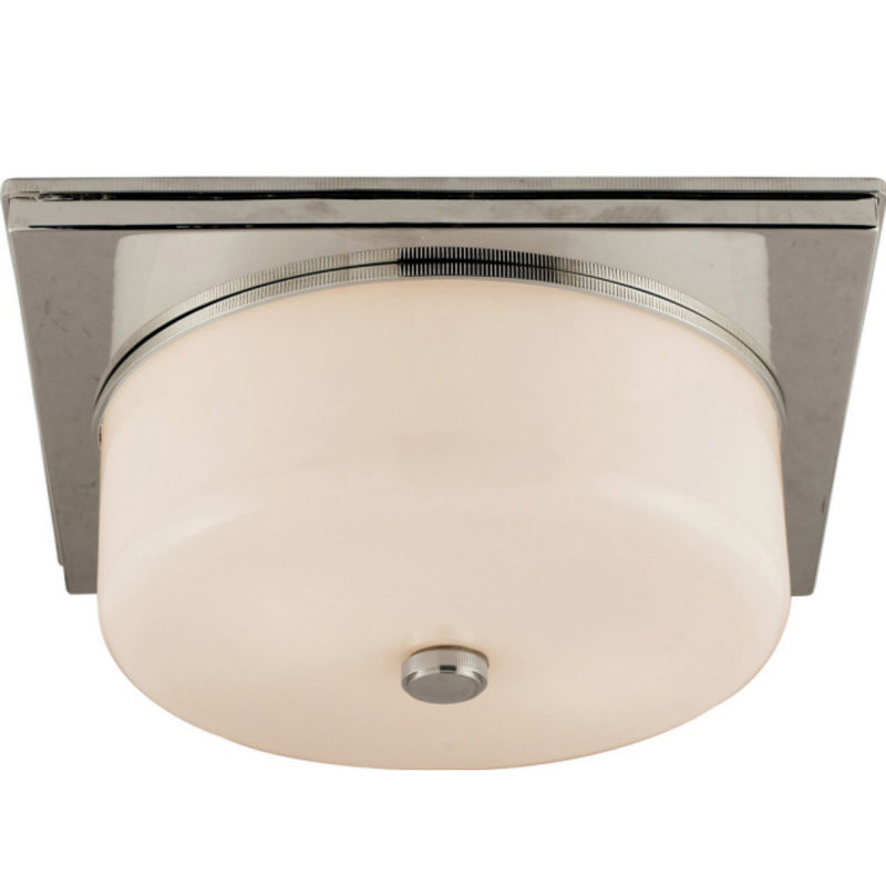 Visual Comfort TOB 4216PN-WG Thomas O'Brien Newhouse Circular Flush Mount in Polished Nickel