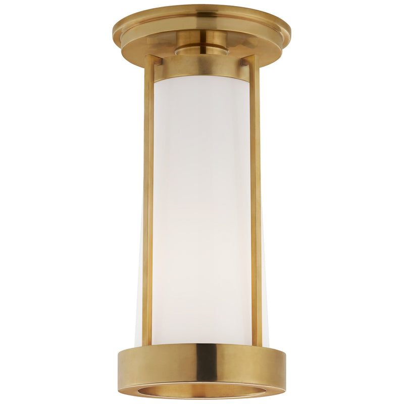 Visual Comfort TOB 4275HAB-WG Thomas O'Brien Calix Tall Flush in Hand-Rubbed Antique Brass
