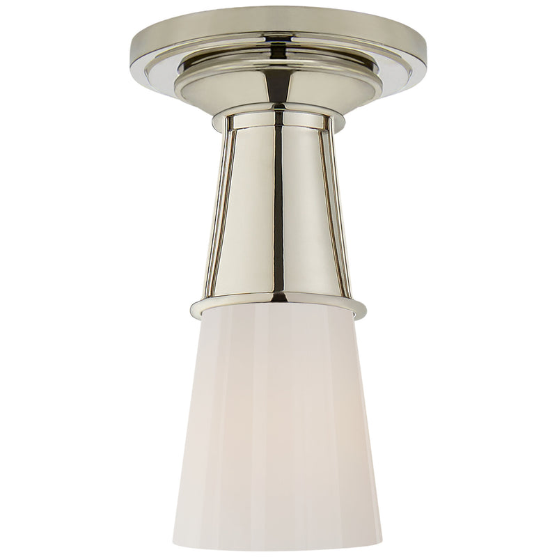 Visual Comfort TOB 4751PN-WG Thomas O'Brien Robinson Small Flush in Polished Nickel
