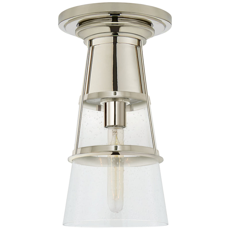 Visual Comfort TOB 4752PN-SG Thomas O'Brien Robinson Medium Flush in Polished Nickel