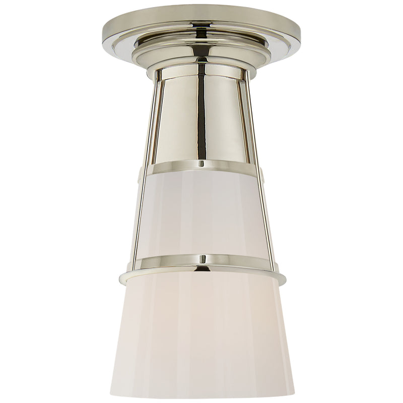 Visual Comfort TOB 4752PN-WG Thomas O'Brien Robinson Medium Flush in Polished Nickel