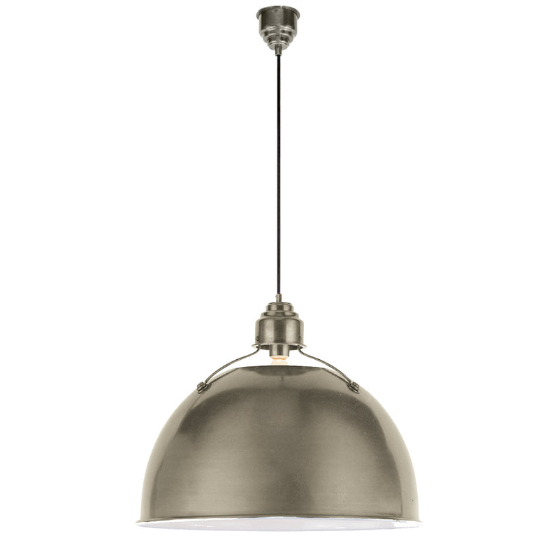 Visual Comfort TOB 5000AN Thomas O'Brien Eugene Large Pendant in Antique Nickel