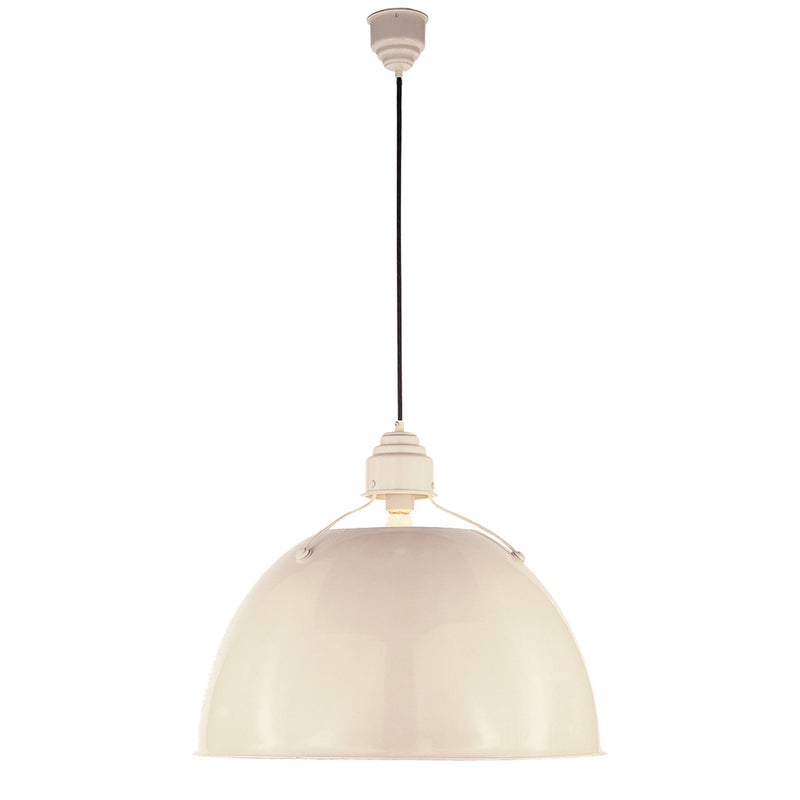 Visual Comfort TOB 5000AW Thomas O'Brien Eugene Large Pendant in Lightly Antique White