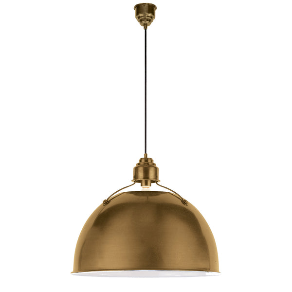 Visual Comfort TOB 5000HAB Thomas O'brien Modern Eugene Large Pendant in Hand-Rubbed Antique Brass
