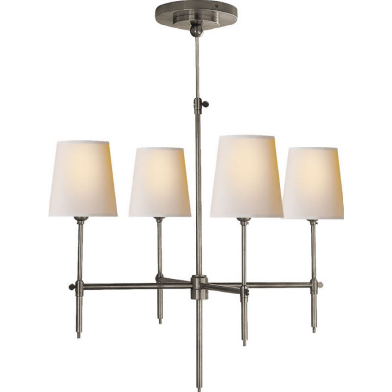 Visual Comfort TOB 5002AN-NP Thomas O'Brien Bryant Small Chandelier in Antique Nickel