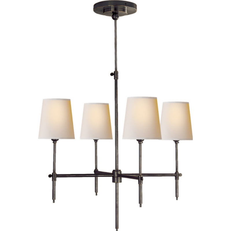Visual Comfort TOB 5002BZ-NP Thomas O'Brien Bryant Small Chandelier in Bronze