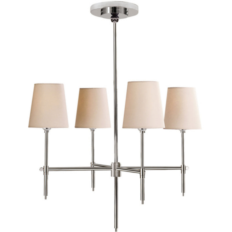 Visual Comfort TOB 5002PN-NP Thomas O'Brien Bryant Small Chandelier in Polished Nickel