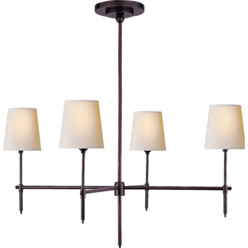Visual Comfort TOB 5003BZ-NP Thomas O'Brien Bryant Large Chandelier in Bronze