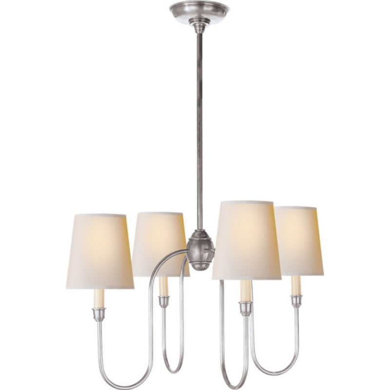Visual Comfort TOB 5007AS-NP Thomas O'Brien Vendome Small Chandelier in Antique Silver