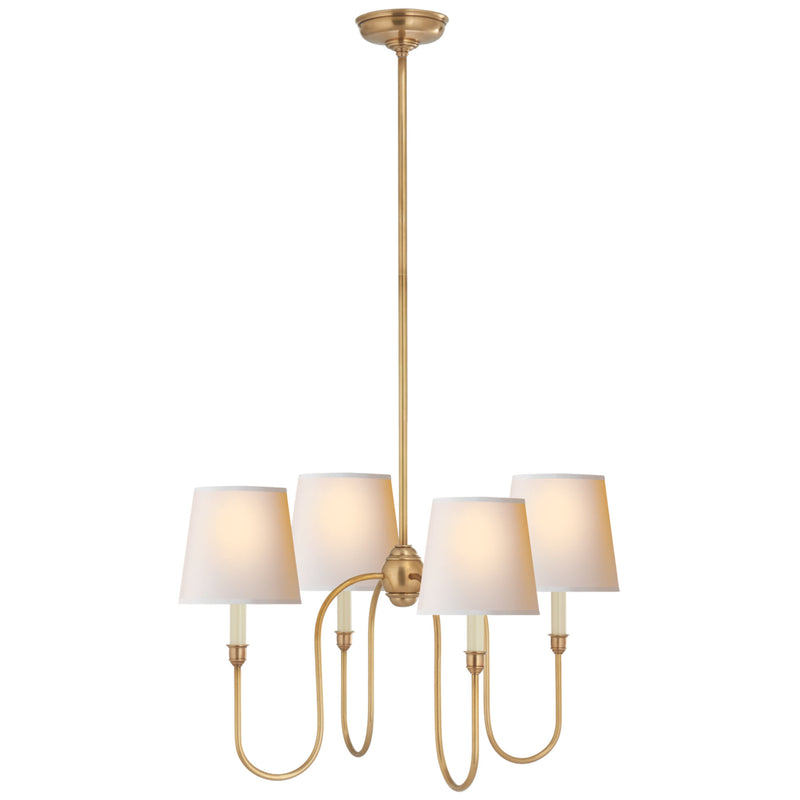 Visual Comfort TOB 5007HAB-NP Thomas O'Brien Vendome Small Chandelier in Hand-Rubbed Antique Brass