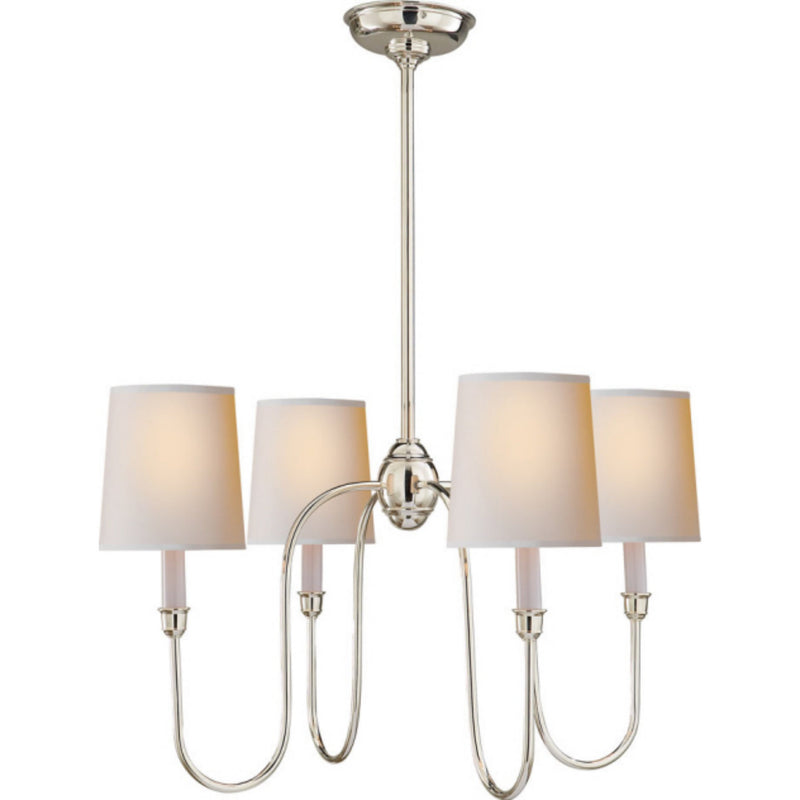 Visual Comfort TOB 5007PN-NP Thomas O'Brien Vendome Small Chandelier in Polished Nickel