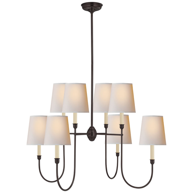 Visual Comfort TOB 5008BZ-NP Thomas O'Brien Vendome Large Chandelier in Bronze