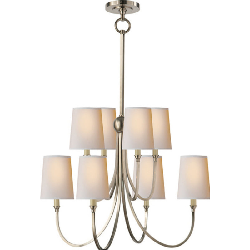 Visual Comfort TOB 5010AN-NP Thomas O'Brien Reed Large Chandelier in Antique Nickel