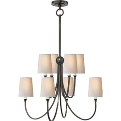 Visual Comfort TOB 5010BZ-NP Thomas O'Brien Reed Large Chandelier in Bronze