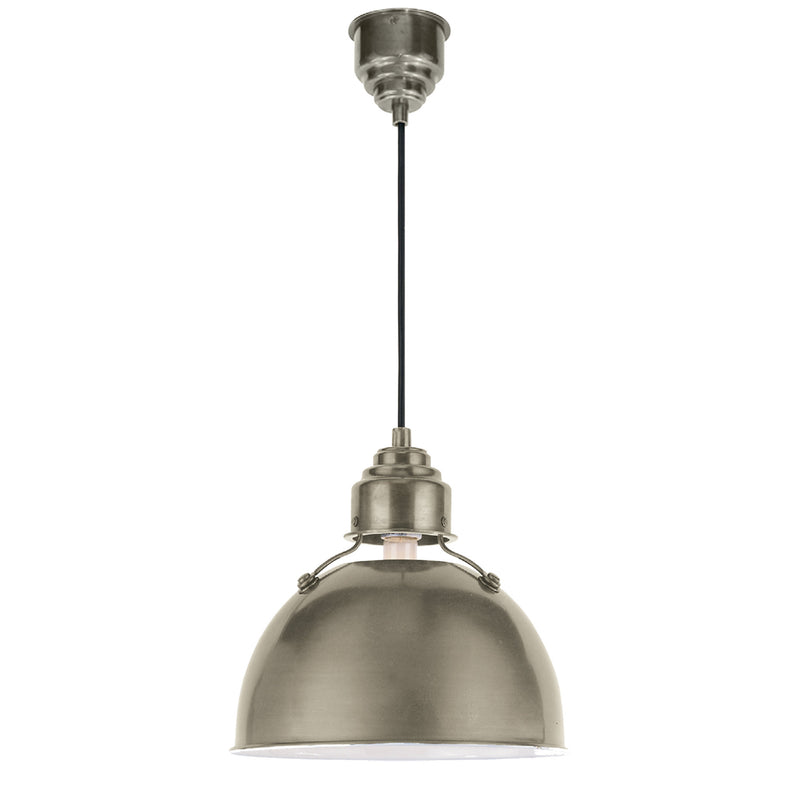 Visual Comfort TOB 5012AN Thomas O'Brien Eugene Small Pendant in Antique Nickel