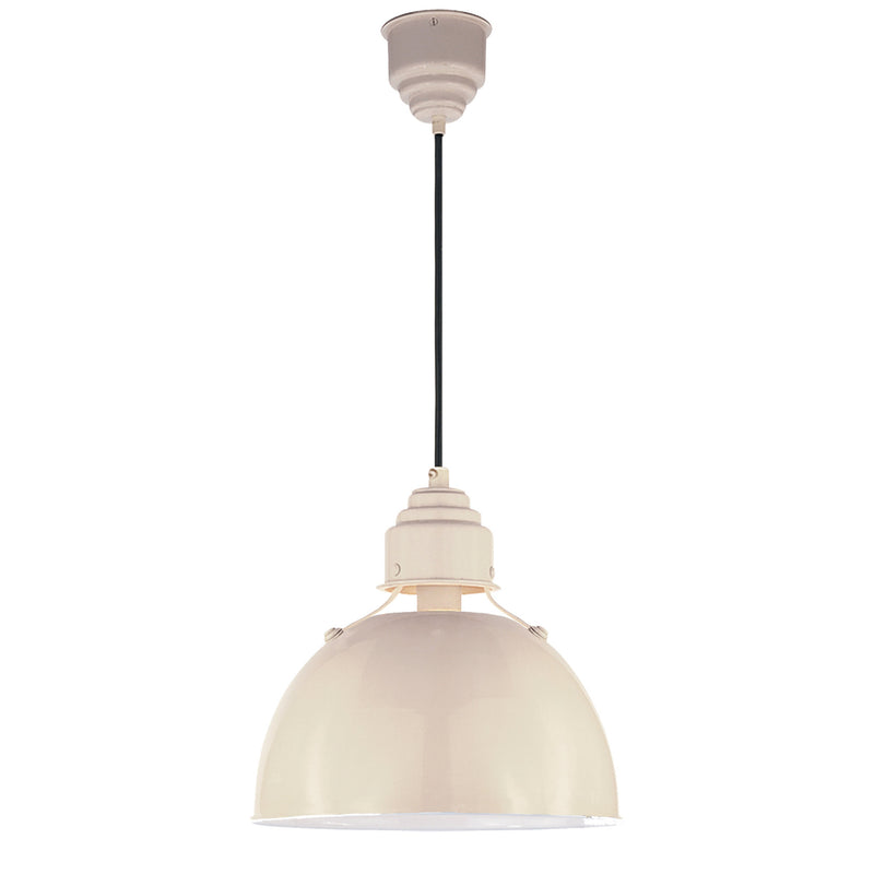 Visual Comfort TOB 5012AW Thomas O'Brien Eugene Small Pendant in Lightly Antique White