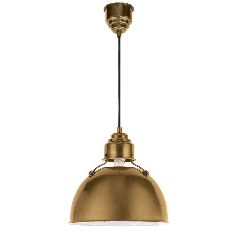 Visual Comfort TOB 5012HAB Thomas O'Brien Eugene Small Pendant in Hand-Rubbed Antique Brass