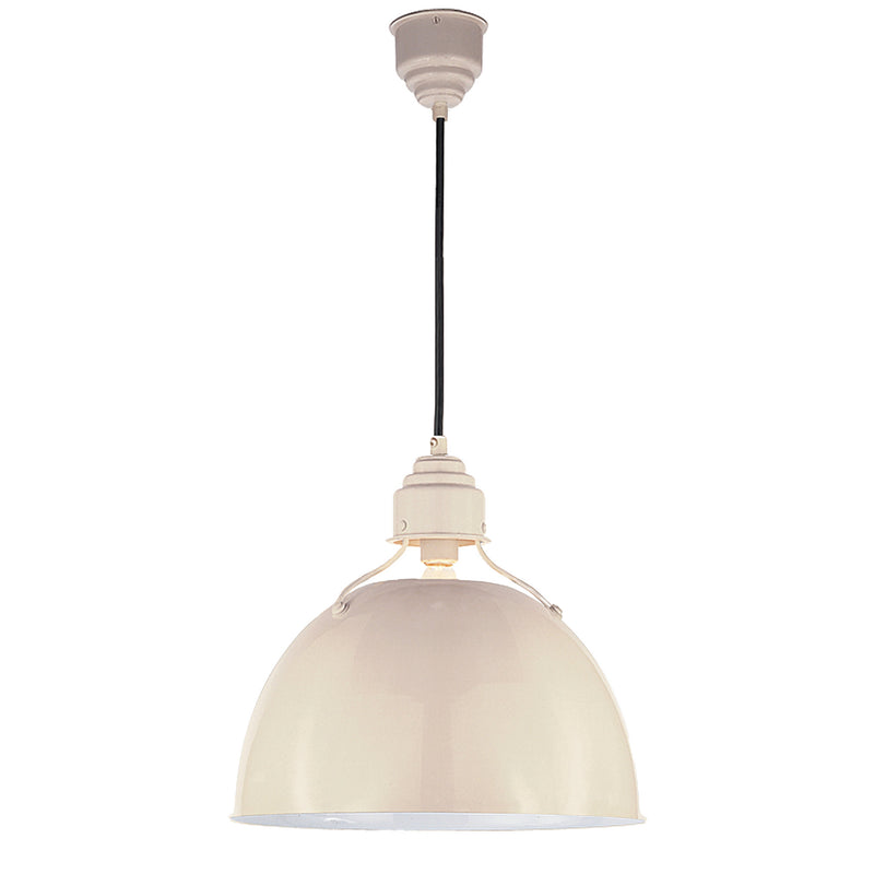 Visual Comfort TOB 5013AW Thomas O'Brien Eugene Medium Pendant in Lightly Antique White