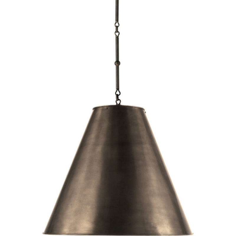 Visual Comfort TOB 5014BZ-BZ Thomas O'Brien Goodman Large Hanging Lamp in Bronze