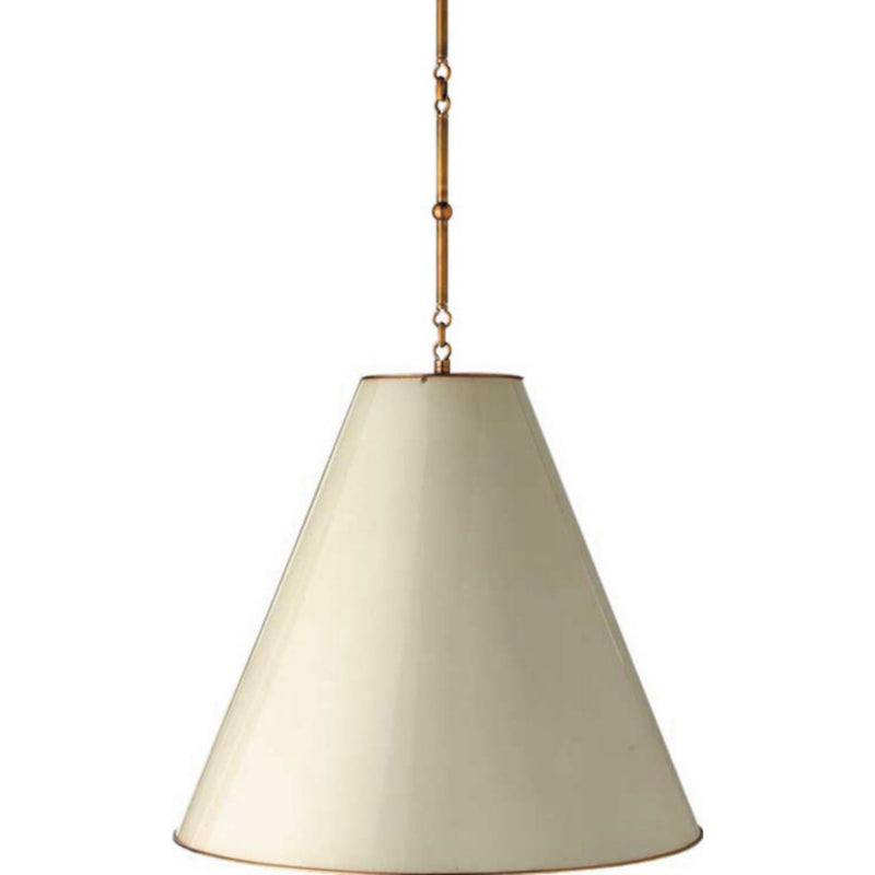 Visual Comfort TOB 5014HAB-AW Thomas O'Brien Goodman Large Hanging Lamp in Hand-Rubbed Antique Brass