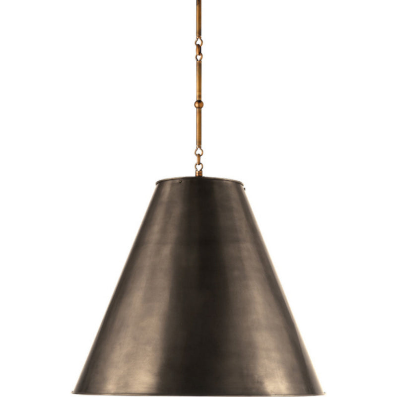 Visual Comfort TOB 5014HAB-BZ Thomas O'Brien Goodman Large Hanging Lamp in Hand-Rubbed Antique Brass