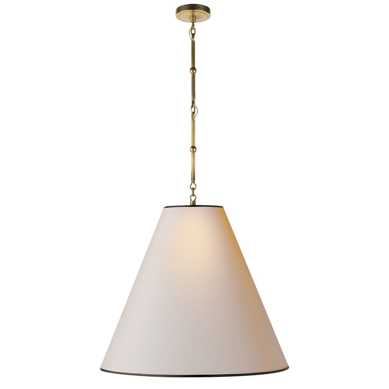 Visual Comfort TOB 5014HAB-NP/BT Thomas O'Brien Goodman Large Hanging Lamp in Hand-Rubbed Antique Brass