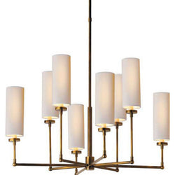 Visual Comfort TOB 5016HAB-NP Thomas O'Brien Ziyi Large Chandelier in Hand-Rubbed Antique Brass