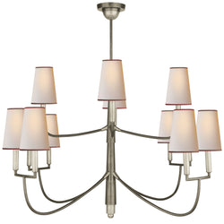 Visual Comfort TOB 5017AN-NP/RT Thomas O'Brien Farlane Large Chandelier in Antique Nickel