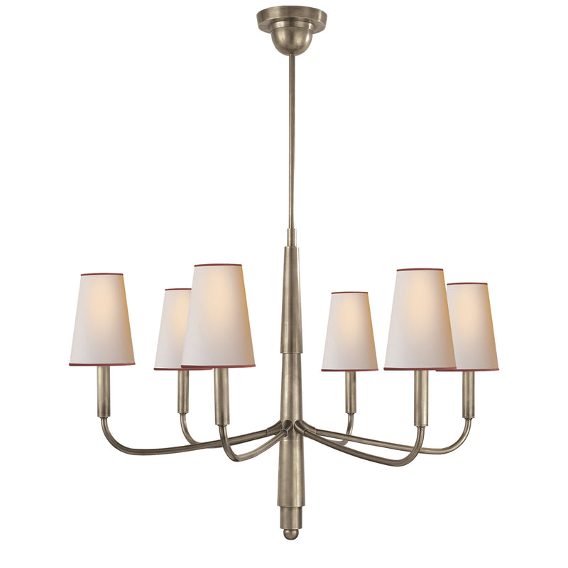 Visual Comfort TOB 5018AN-NP/RT Thomas O'Brien Farlane Small Chandelier in Antique Nickel