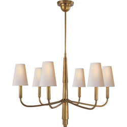 Visual Comfort TOB 5018HAB-NP Thomas O'Brien Farlane Small Chandelier in Hand-Rubbed Antique Brass