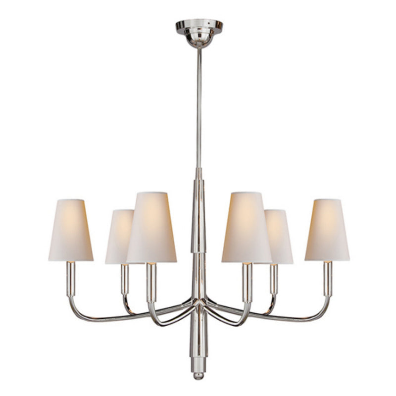 Visual Comfort TOB 5018PS-NP Thomas O'Brien Farlane Small Chandelier in Polished Silver
