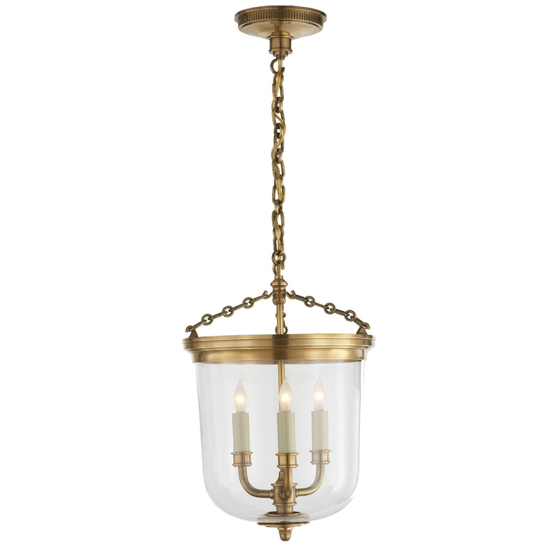 Visual Comfort TOB 5030HAB Thomas O'Brien Merchant Lantern in Hand-Rubbed Antique Brass
