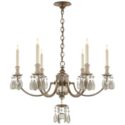 Visual Comfort TOB 5036BSL Thomas O'Brien Elizabeth Chandelier in Burnished Silver Leaf