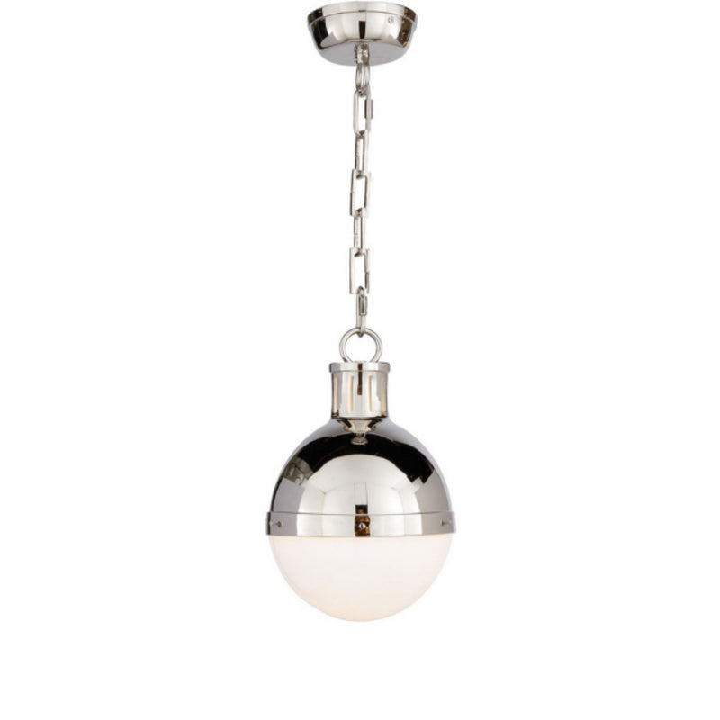 Visual Comfort TOB 5062PN-WG Thomas O'Brien Hicks Small Pendant in Polished Nickel