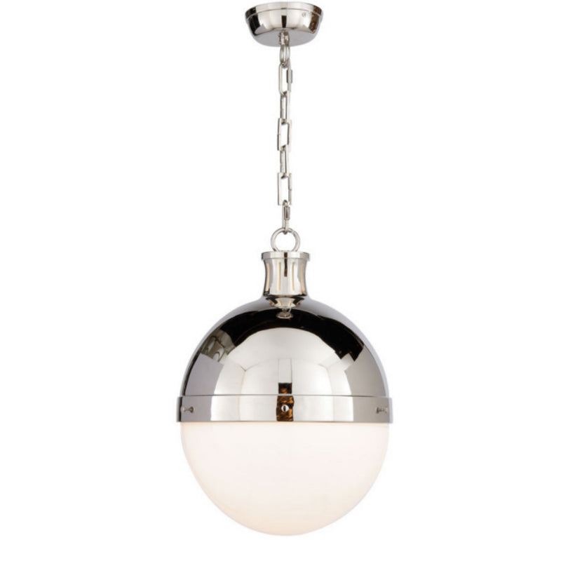 Visual Comfort TOB 5063PN-WG Thomas O'Brien Hicks Large Pendant in Polished Nickel