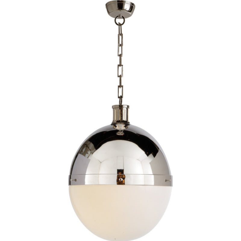 Visual Comfort TOB 5064PN-WG Thomas O'Brien Hicks Extra Large Pendant in Polished Nickel