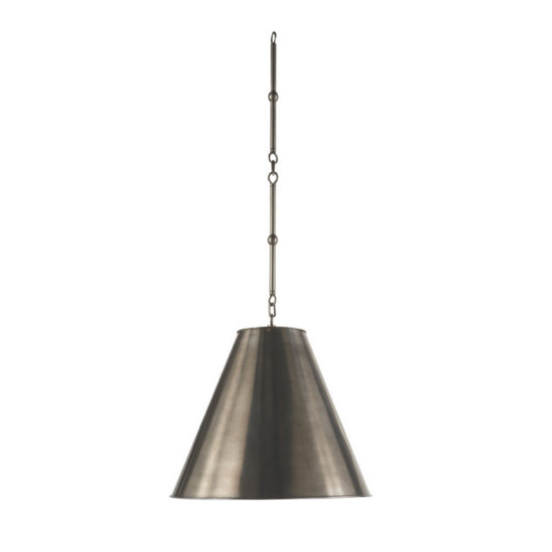 Visual Comfort TOB 5090AN-AN Thomas O'Brien Goodman Small Hanging Light in Antique Nickel