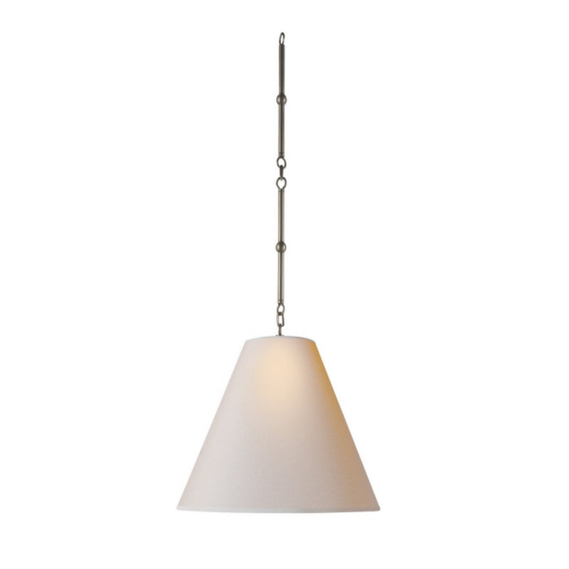 Visual Comfort TOB 5090AN-NP Thomas O'Brien Goodman Small Hanging Light in Antique Nickel
