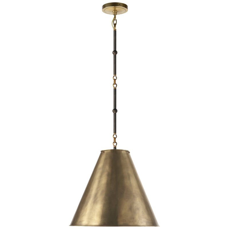 Visual Comfort TOB 5090BZ/HAB-HAB Thomas O'Brien Goodman Small Hanging Light in Bronze with Antique Brass