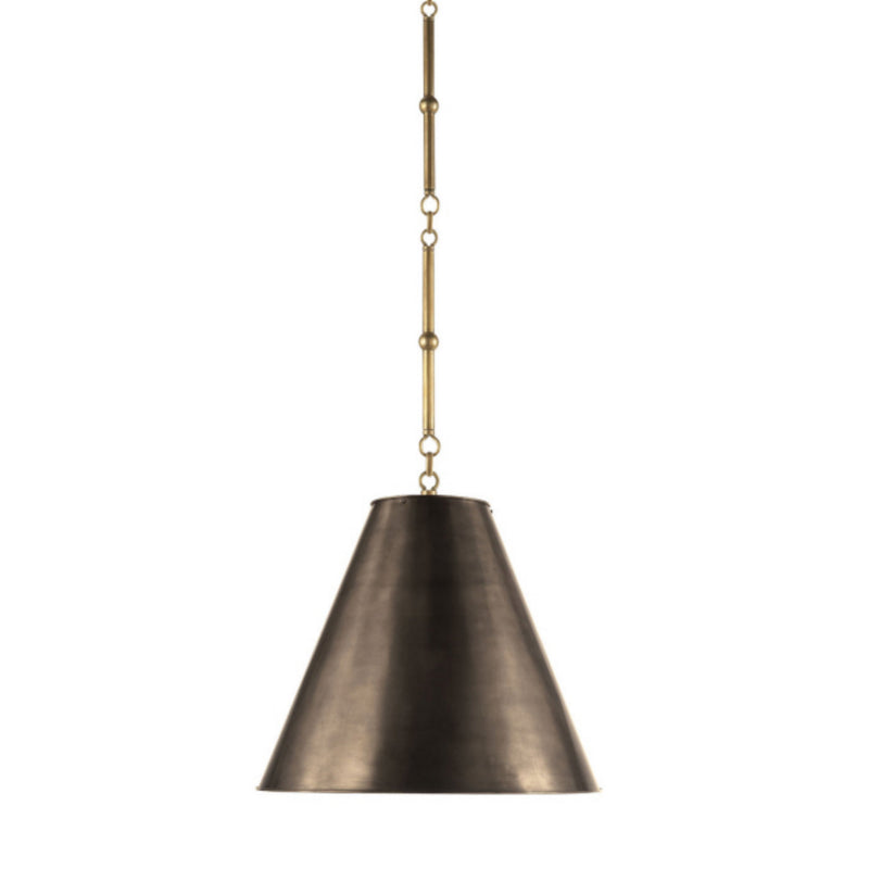 Visual Comfort TOB 5090HAB-BZ Thomas O'Brien Goodman Small Hanging Light in Hand-Rubbed Antique Brass