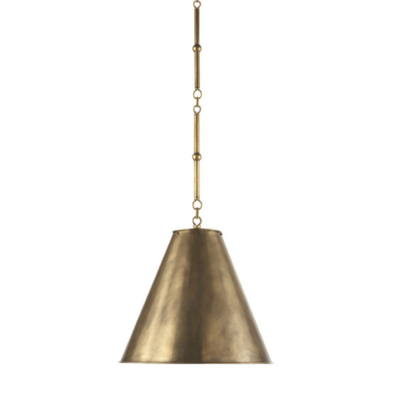 Visual Comfort TOB 5090HAB-HAB Thomas O'Brien Goodman Small Hanging Light in Hand-Rubbed Antique Brass