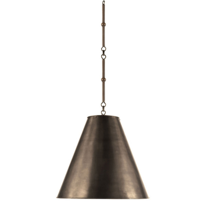 Visual Comfort TOB 5091BZ-BZ Thomas O'Brien Goodman Medium Hanging Light in Bronze