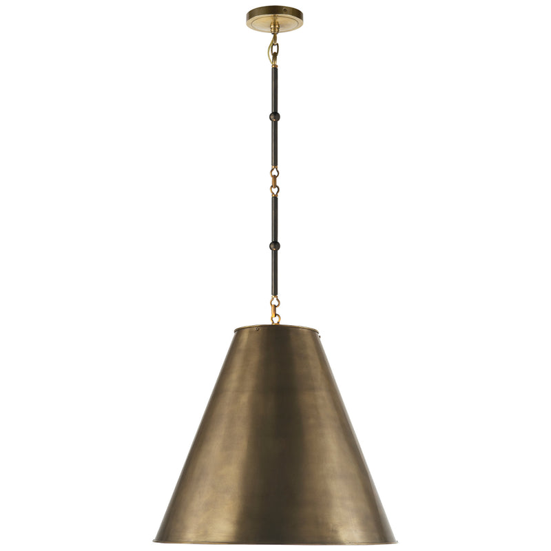 Visual Comfort TOB 5091BZ/HAB-HAB Thomas O'Brien Goodman Medium Hanging Light in Bronze with Antique Brass
