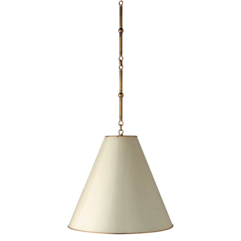 Visual Comfort TOB 5091HAB-AW Thomas O'Brien Goodman Medium Hanging Light in Hand-Rubbed Antique Brass