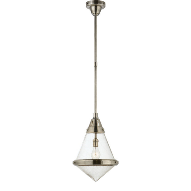 Visual Comfort TOB 5155AN-SG Thomas O'Brien Gale Small Pendant in Antique Nickel