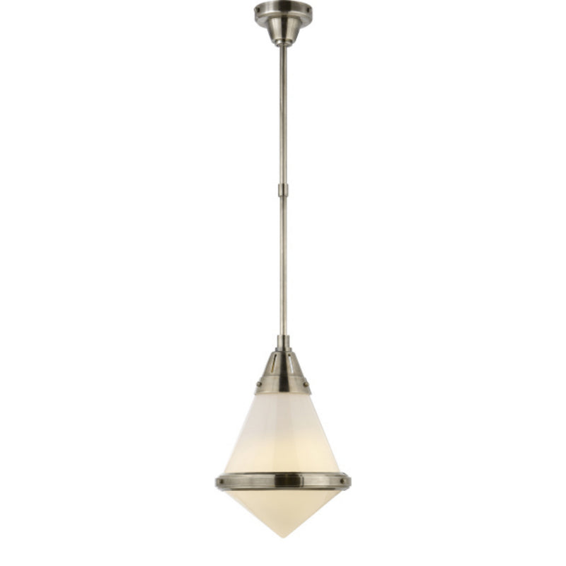Visual Comfort TOB 5155AN-WG Thomas O'Brien Gale Small Pendant in Antique Nickel
