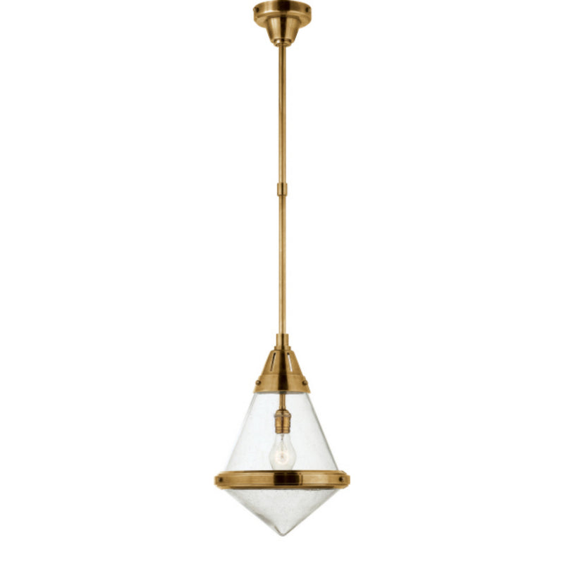 Visual Comfort TOB 5155HAB-SG Thomas O'Brien Gale Small Pendant in Hand-Rubbed Antique Brass