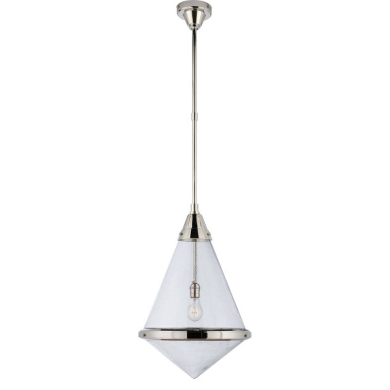 Visual Comfort TOB 5156PN-SG Thomas O'Brien Gale Large Pendant in Polished Nickel