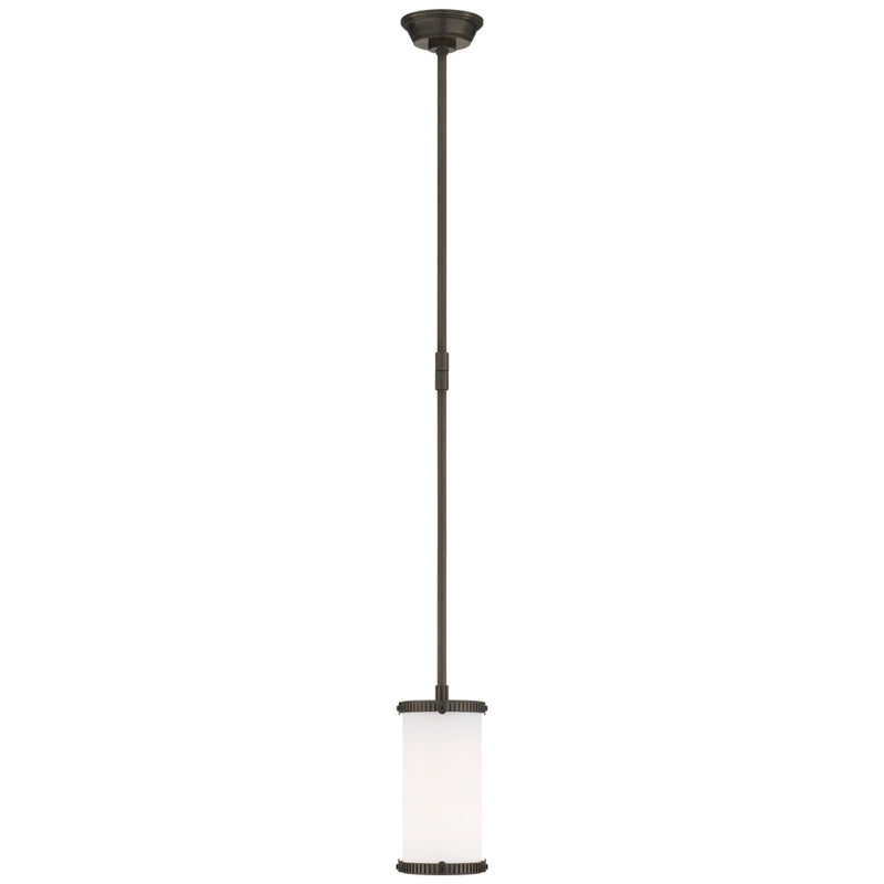 Visual Comfort TOB 5185BZ-WG Thomas O'Brien Calliope Mini Pendant in Bronze